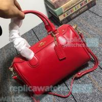 China Knockoff Coach Handbag,Great COACH Simple Style Red Genuine Leather Bag on sale