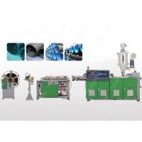 Single Wall PVC Plastic Corrugated Pipe Extrusion Line With Ring Groove Structure Manufactures