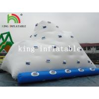 Backyard White Inflatable Water Iceberg / Durable PVC Custom Logo Printed Water Toy Manufactures