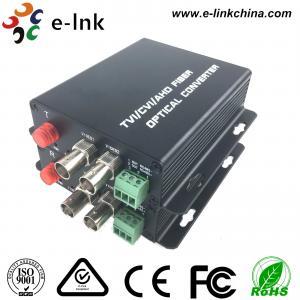 PTZ Control AHD CVI TVI Over Fiber Converter 2CH1080P Video 1CH Backward Data RS485 Manufactures