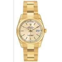 Rolex Day Date Champagne Index Dial Oyster Bracelet 18k Yellow Gold Mens Watch 118208CSO Manufactures