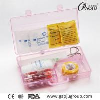 Middle size Emergency First Aid Kits GJ-3055 PVC Material First Aid Kit Box Car, Pink Color box Manufactures
