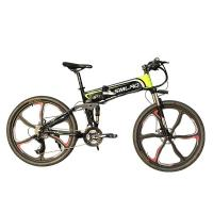 China 26 Inch SHlMANO Foldable Electric Mountain Bike 21 Speed Energy Saving on sale