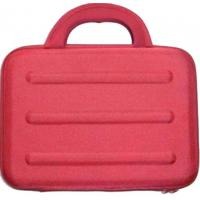 China Fashion Neoprene red Cute Laptop Sleeve with double black zipper puller for protecting on sale