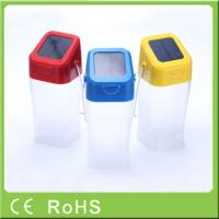 0.4W 4.5V integrated solar panel solar rechargeable led camping lantern Manufactures
