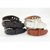 China Cutout Effect Personalized Leather Belts 3.5cm Width With Handwork Stitching on sale