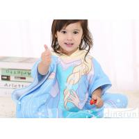 China Animal Hooded Poncho Towels For Children Cotton / Polyester Material wholesale