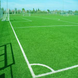 Diamond Shape Football Soccer Artificial Turf Dark Light Green Color Manufactures