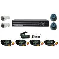 China Video Surveillance Equipment, 4CH Standalone DVR and IR Bullet Cameras on sale