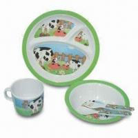 Plate/Dish Set, Made of Melamine Material, Customized Sizes, Colors and Designs Accepted Manufactures