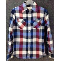 men Cheap plaid blouse stocklots full sleeve tops stock,man clothes inventory wholesaler Manufactures