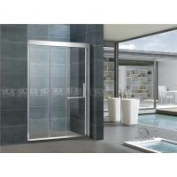 Inline Stainless Steel Sliding Glass Shower Cubicles 8 / 10 MM Clear / Frosted For House Manufactures