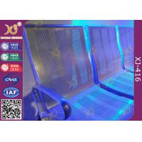 China Powder Coated Steel Beam PU Cushion Waiting Lounge Chairs For Station on sale