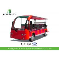 Red Color Tourist Electric Sightseeing Car With 14 Seats Battery Operated Manufactures