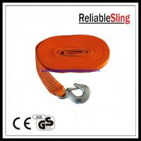 High tenacity CE Polyester Heavy Duty Tow Straps with hook and eye Manufactures