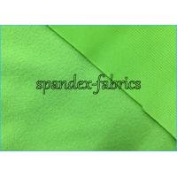 China Green Polyester Tricot Clinquant Velvet Fabric for Shoes Lining / Uniform on sale