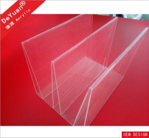 New Design Acrylic Brochure Display Stand PMMA / Organic Glass / Plexiglass Manufactures