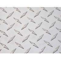 Diamond plate with raised surface resists skid Manufactures