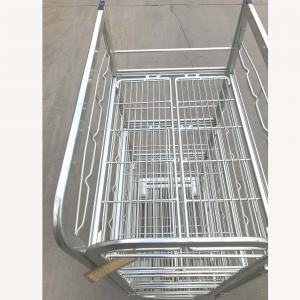 Warehouse Transport Logistics Trolley , Supermarket Milk Cage Trolley