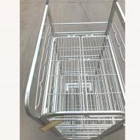 Quality Warehouse Transport Logistics Trolley , Supermarket Milk Cage Trolley for sale