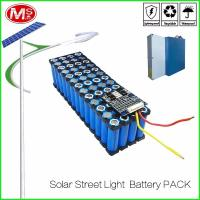 LifePO4 Cylindrical Lithium Ion Battery Pack / 12V 15Ah Solar Street Light Battery Manufactures