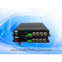 4CH AHD video audio fiber converter with black aluminum case Manufactures