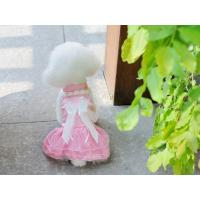 China Nice-looking pink wedding dress for dog cheap dog clothes on sale