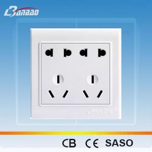 LK4017 2+2pole+3+ 3pin PC flush type asia socket