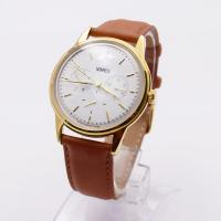Mens Stainless Steel Chronograph Watches / Gold Color Belt Watches For Gents Manufactures