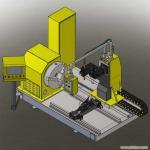 CNC pipe plasma cutting machine 100-1000mm OD Manufactures