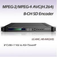 MPEG-2/H.264 8 IN 1 SD Encoder low delay encoder RES2308 Manufactures