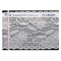Quality Water Soluble Elastic Lace Fabric , Stretchable Lace Trim SGS CY-HB0285 for sale