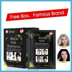 China 2018 hot sale Yucaitang dexe fast black darkening hair dye shampoo on sale