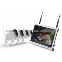 720P 4CH LCD Screen NVR Wireless IP Camera with Monitor Kit 4 Channel Home CCTV Kits Manufactures