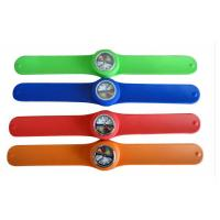 3atm / 5atm Waterproof Silicone Wristband Watch For Kids , Face Slap Watch Bands Manufactures