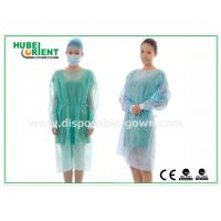 China 18-40G / m2 Medical Nonwoven Disposable Isolation Gowns with Knitted Cuff on sale