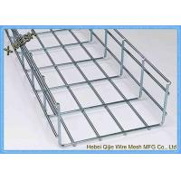 China Galvanized / Powder Coated Wire Mesh Cable Tray , Metal Mesh Tray SGS Listed on sale