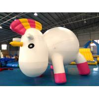Anti - UV Material Standing Inflatable Unicorn Cartoon For Swimming Pool for sale