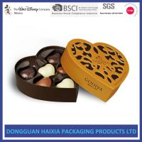 China Golden Hollow Out Cardboard Gift Boxes Matt Lamination With Inner Tray on sale