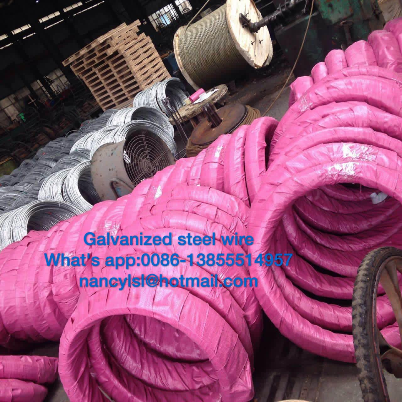 Grade700-Grade1300 Steel Messenger Cable Galvanized Steel Wire Strand For Stay Wire As Per BS183 Manufactures