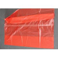 Plastic Water Soluble Dissolvable Washing Bags / Disposable Laundry Bags Red Color Manufactures