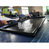 China Black PVC Inflatable Car Wash Mat Customized Mobile Water Containment Mat on sale