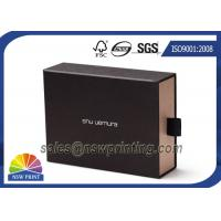 Soft Touch Film Laminated Cardboard Drawer Style Rigid Box with Cotton Handle Manufactures