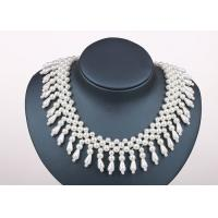 China Handmade Designer Wedding Chunky Faux Pearl Collar Necklaces Jewellery on sale