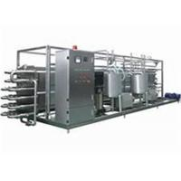 Milk UHT Sterilization Machine / Pipe In Pipe Sterilizer With PLC Finger Touch Screen Manufactures