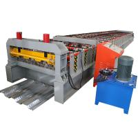 Floor Galvanized Steel Decking Panel Roll Forming Machine PLC Control System Manufactures