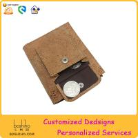 BOSHIHO Eco-friendly imported from Portugal cork product wallet with coin slot Manufactures