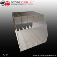 Quality two tiers acrylic counter top display/table acrylic display for sale