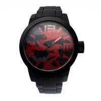 China Big Didital Silicone Wristband Watch Silicone Sports Watch With Icon on sale