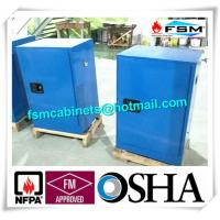 Blue Chemical Corrosive Storage Cabinets 12 GAL With Door for Acid Liquid Manufactures